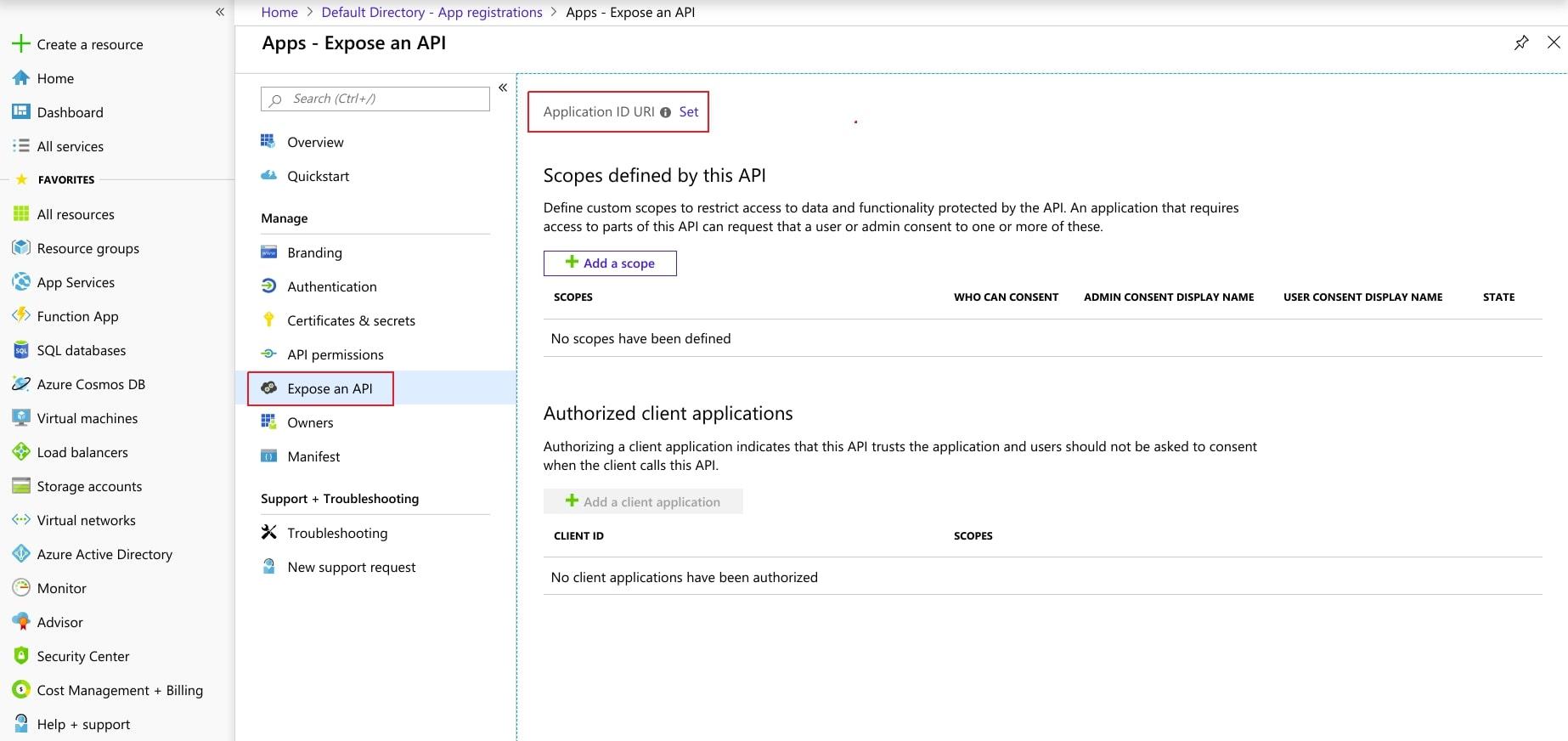 Azure AD SAML SSO expose an API