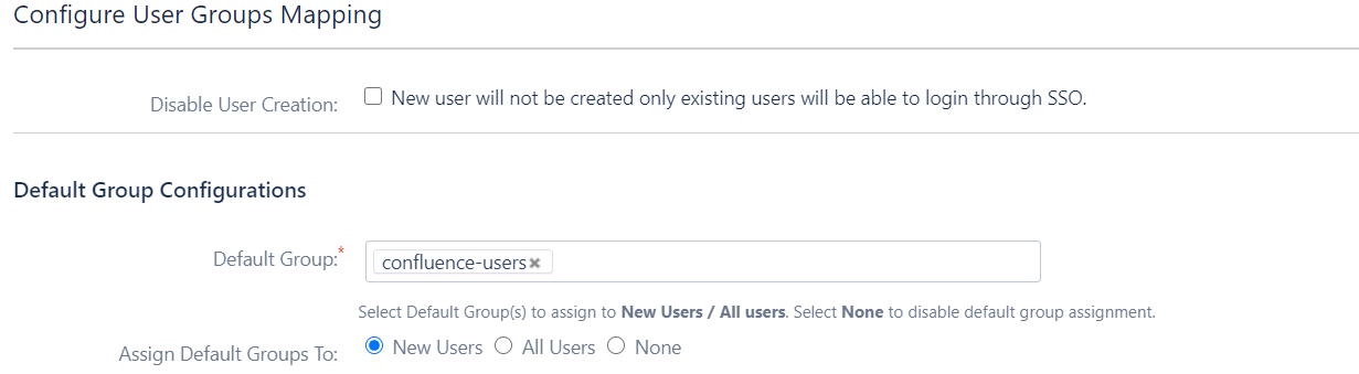 Confluence OAuth/OpenID Single Sign On - SSO - Default group