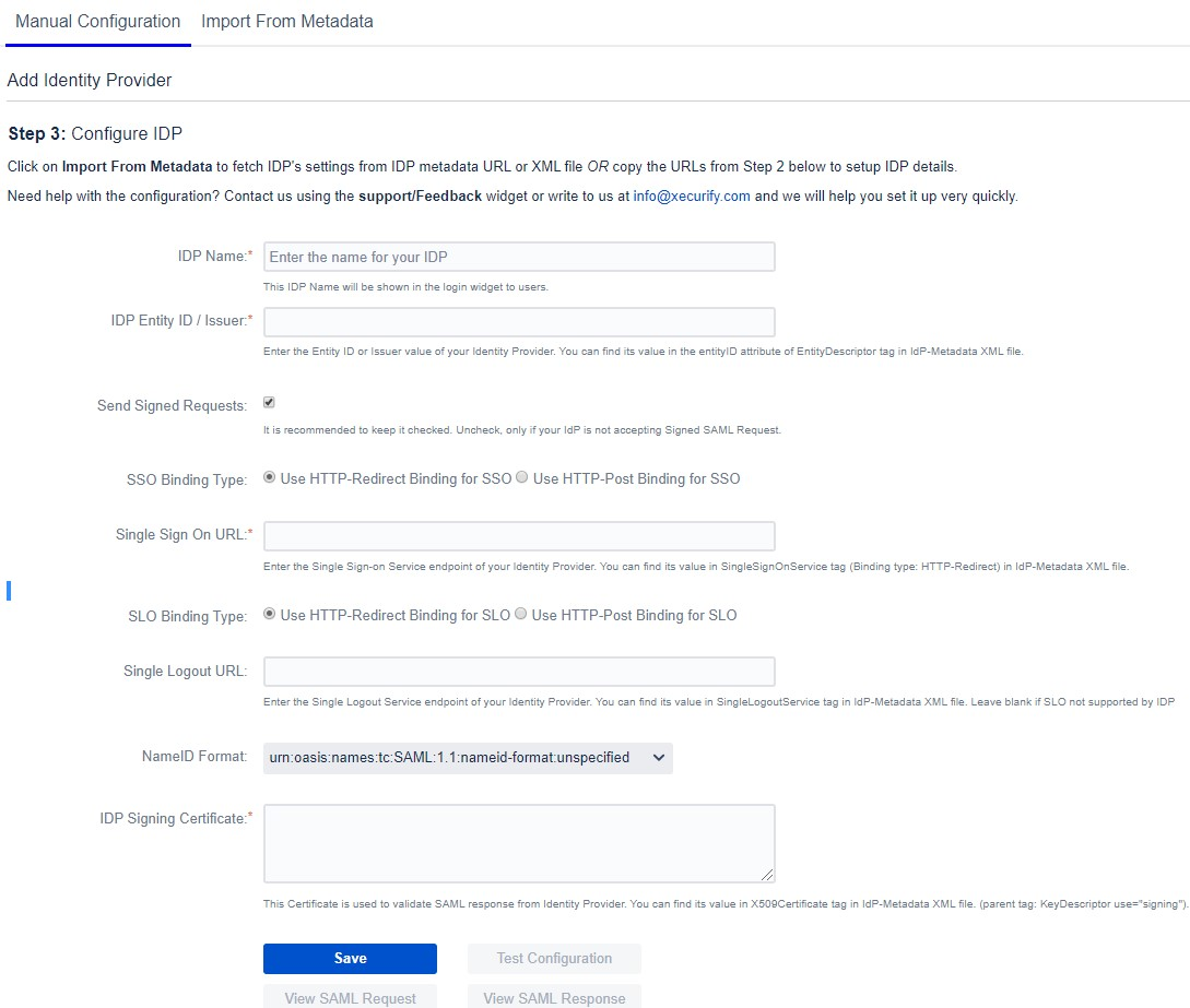 SAML Single Sign ON (SSO) into Jira, Configure IDP Manually