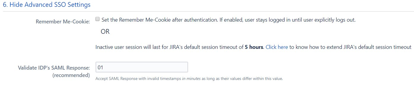 SAML Single Sign On (SSO) into Jira, Advance SSO Settings