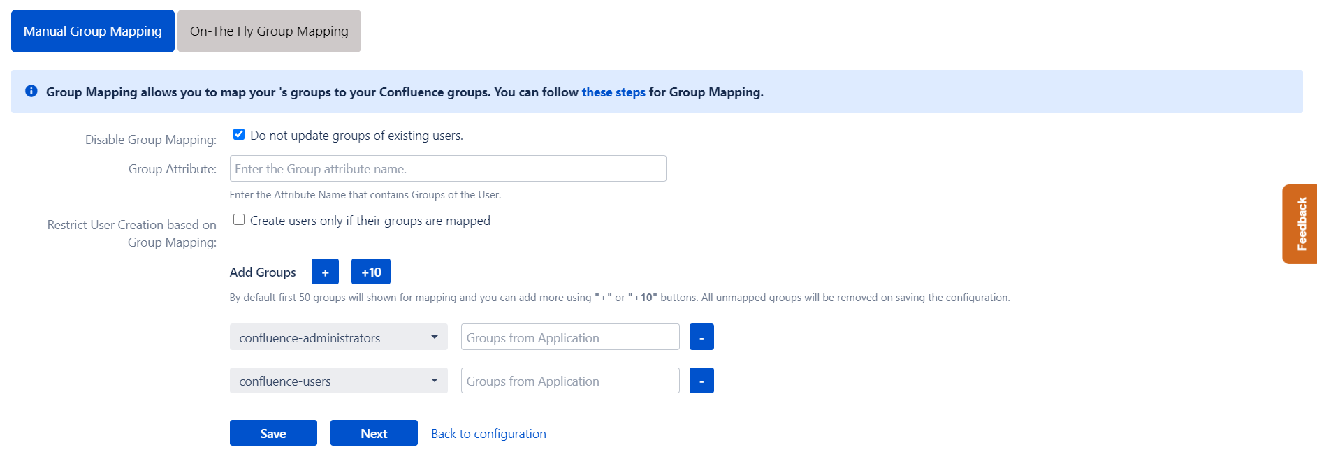 Confluence OAuth/OpenID Single Sign On - SSO - Manual group mapping