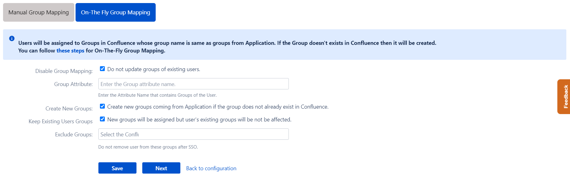Confluence OAuth/OpenID Single Sign On - SSO - On the fly group mapping