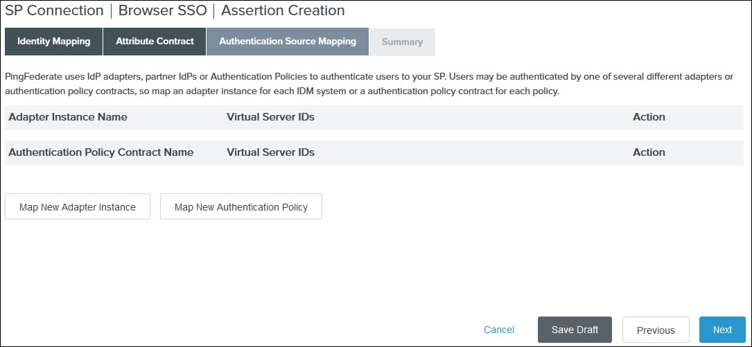 SAML Single Sign On (SSO) using PingFederate Identity Provider, Assertion Creation