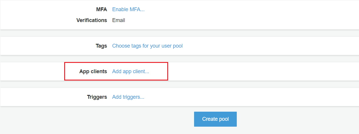 OAuth/OpenID/OIDC Single Sign On (SSO), AWS cognito SSO Login Add app client