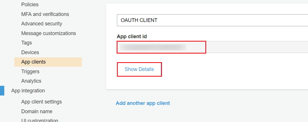 OAuth/OpenID/OIDC Single Sign On (SSO), AWS cognito SSO Login App client
