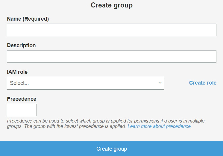 OAuth/OpenID/OIDC Single Sign On (SSO), AWS cognito SSO Login Create group