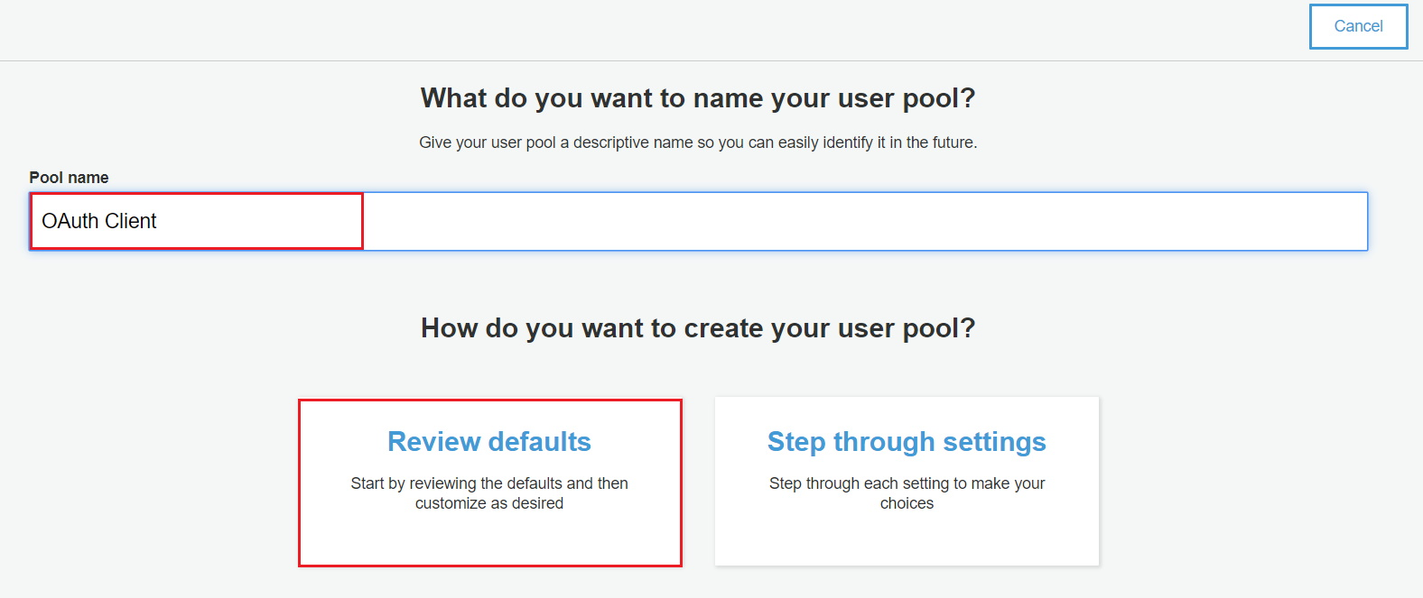 OAuth/OpenID/OIDC Single Sign On (SSO), AWS cognito SSO Login Review Defaults
