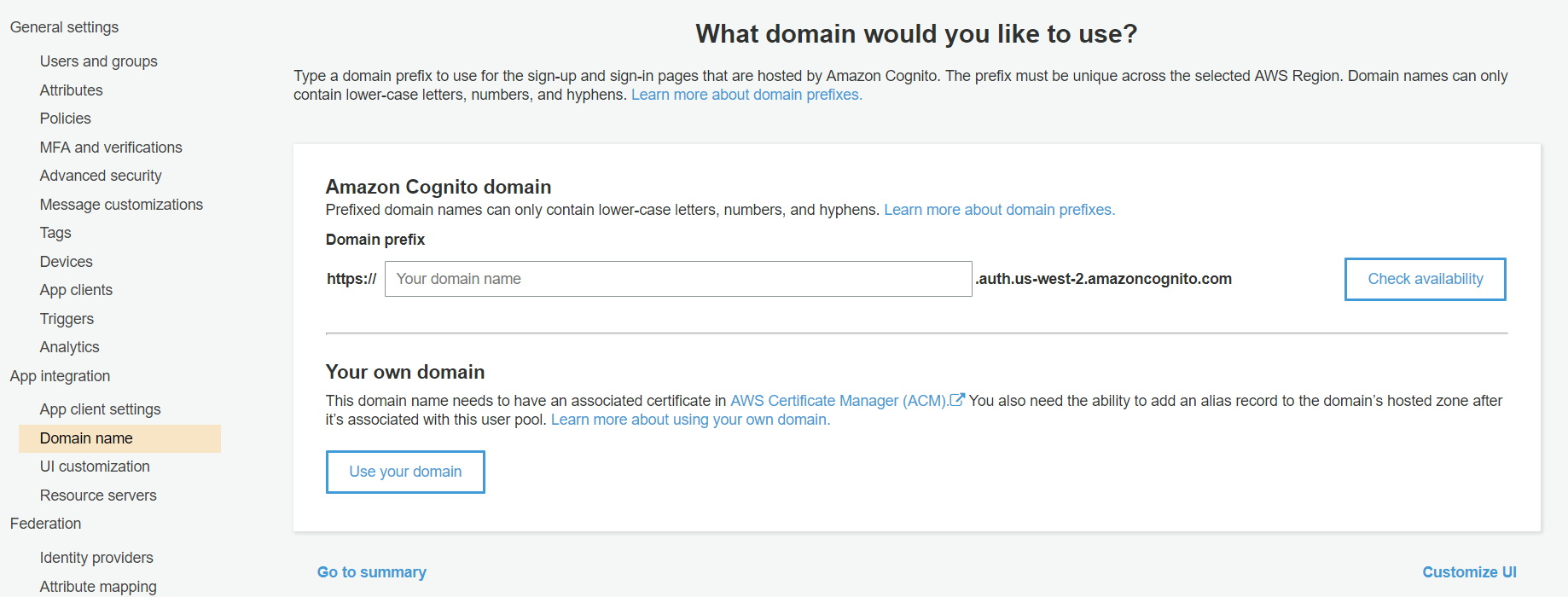 OAuth/OpenID/OIDC Single Sign On (SSO), AWS cognito SSO Login domain name