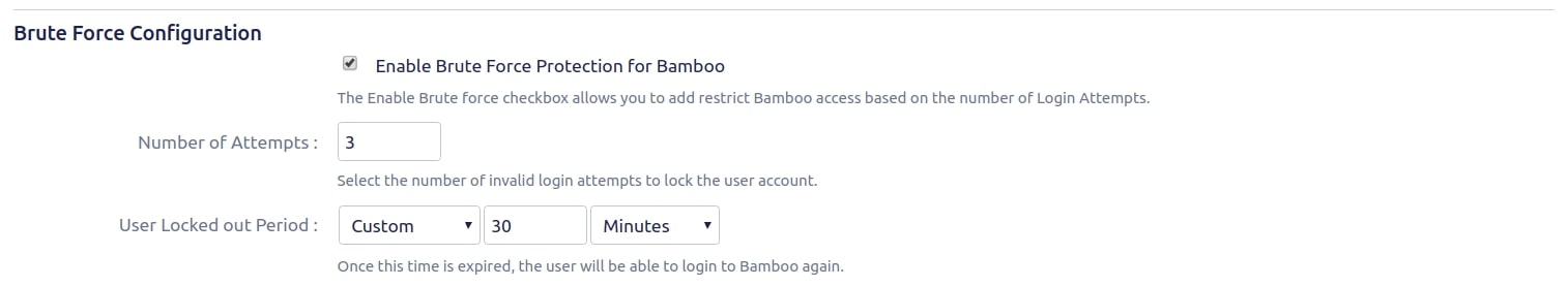 Setup Two Factor (2FA / MFA) Authentication for Bamboo using OTP, KBA, TOTP methods Brute force