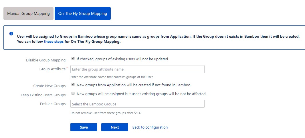OAuth / OpenID Single Sign On (SSO) into Bamboo Service Provider, On the fly group mapping