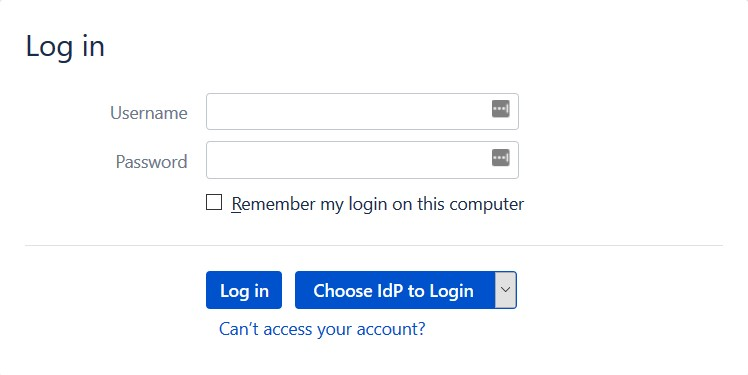 SAML Single Sign On (SSO) into Bamboo Service Provider, Login Form with multiple IDP configuration