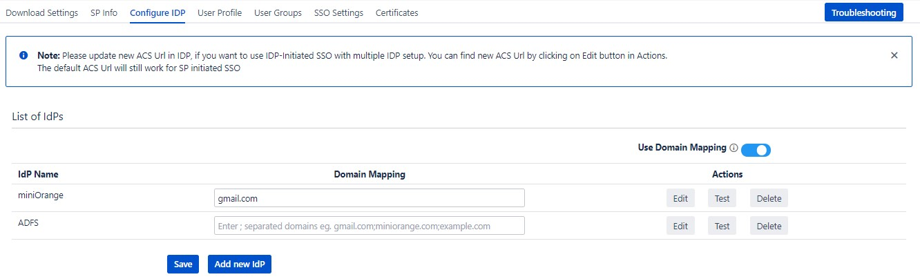 SAML Single Sign On (SSO) into Confluence, Domain Mapping