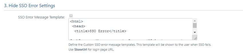 SAML Single Sign On (SSO) into Confluence, Custom Error Template Settings