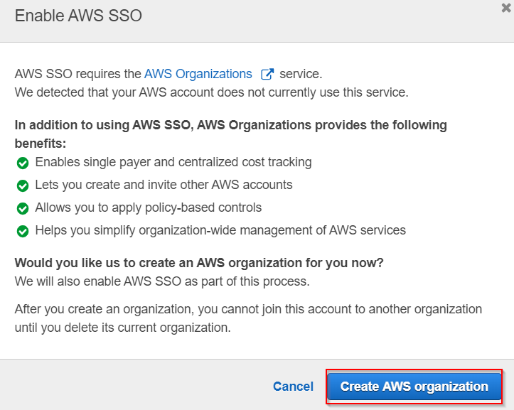 SAML Single Sign On(SSO) using AWS Identity Provider,Create AWS Organisation