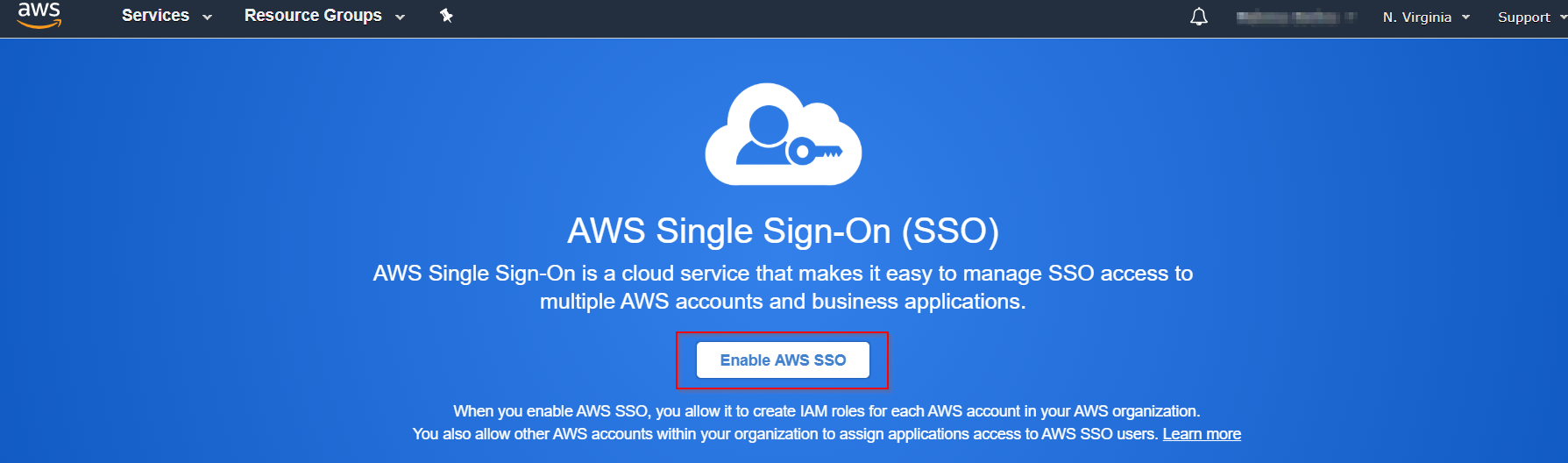 SAML Single Sign On(SSO) using AWS Identity Provider, Enable AWS SSO