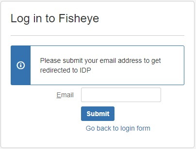 SAML Single Sign ON (SSO) into Fisheye/Crucible, Login form for domain mapping