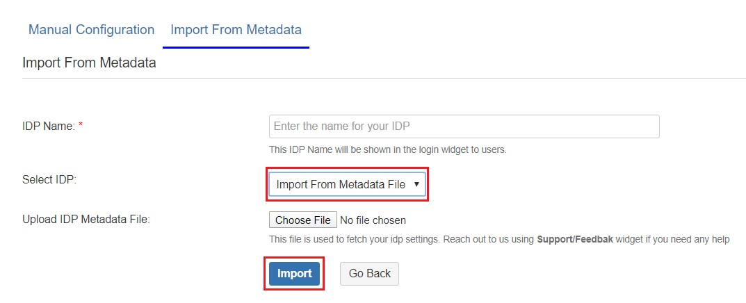 SAML Single Sign On (SSO) into Fisheye/Crucible, Configure IDP using XML metadata file