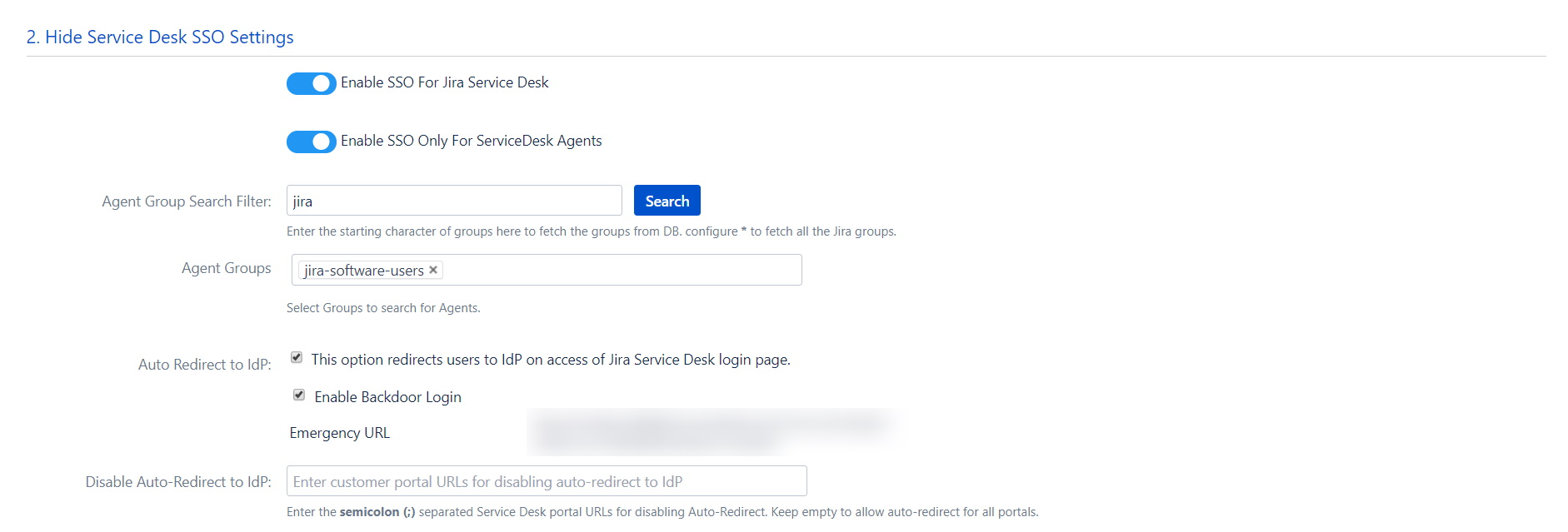 OAuth / OpenID Single Sign On (SSO) into Jira, Service Desk Settings