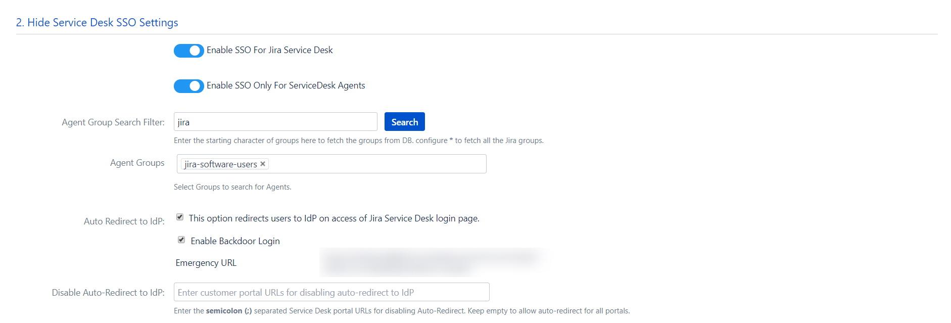 OAuth / OpenID Single Sign On (SSO) into Jira, Service Desk Settings