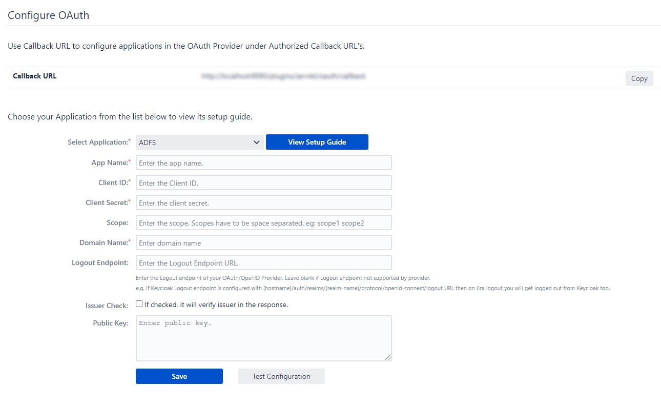 OAuth / OpenID Single Sign On (SSO) using ADFS Identity Provider, Configure OAuth