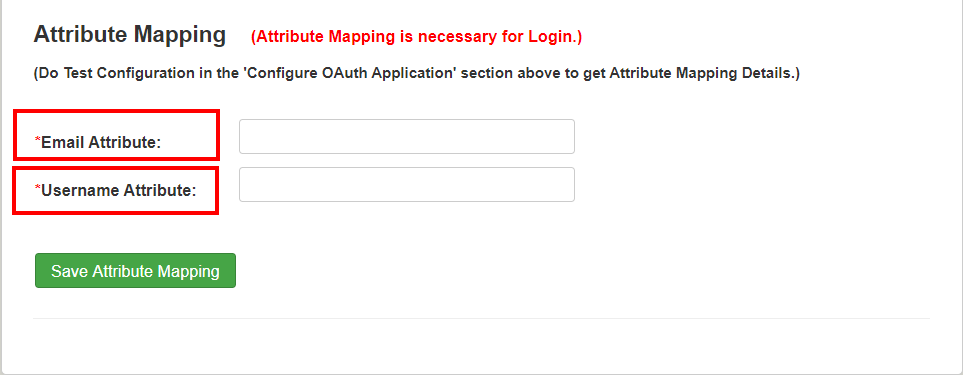 Joomla OAuth Client - Attribute Mapping
