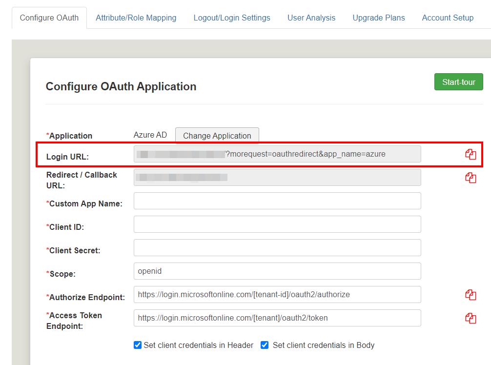 Joomla OAuth Client - Login URL