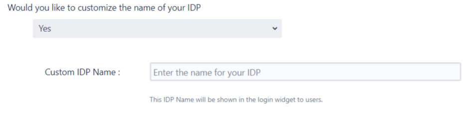 SAML Single Sign On (SSO) into Jira, Quick Setup custom name for IDP