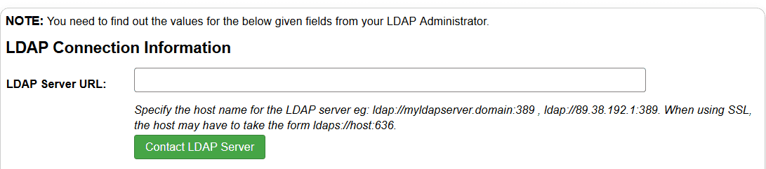 Joomla contact ldap server