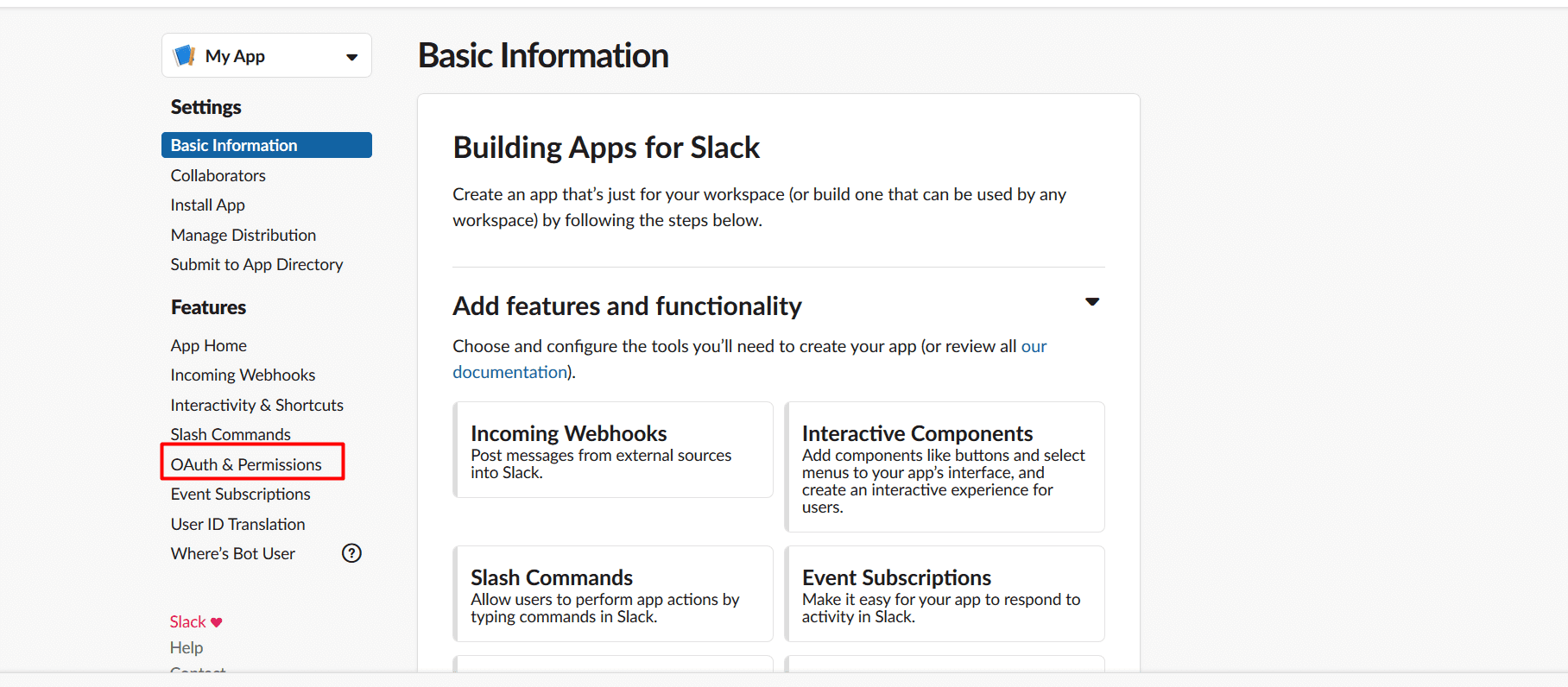 Slack OAuth and permissions