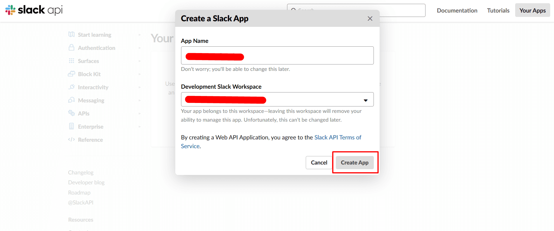 slack give app name for OAuth Client