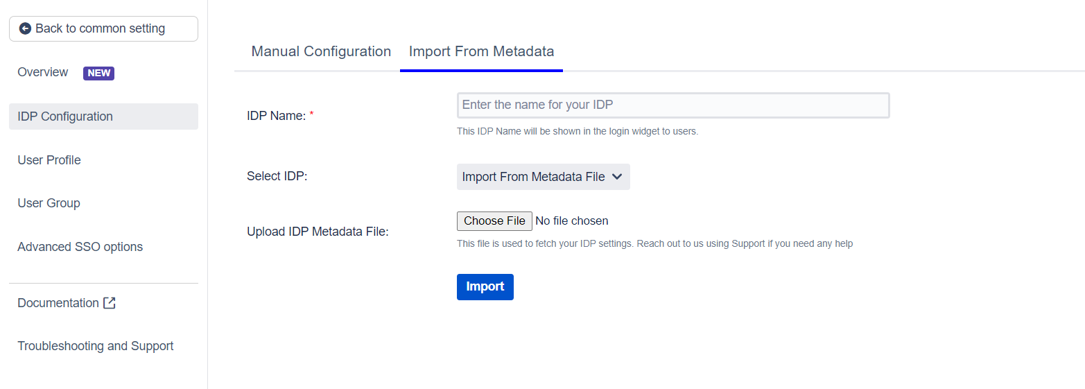 SAML Single Sign On (SSO) into Jira, Import IDP through Metadata File