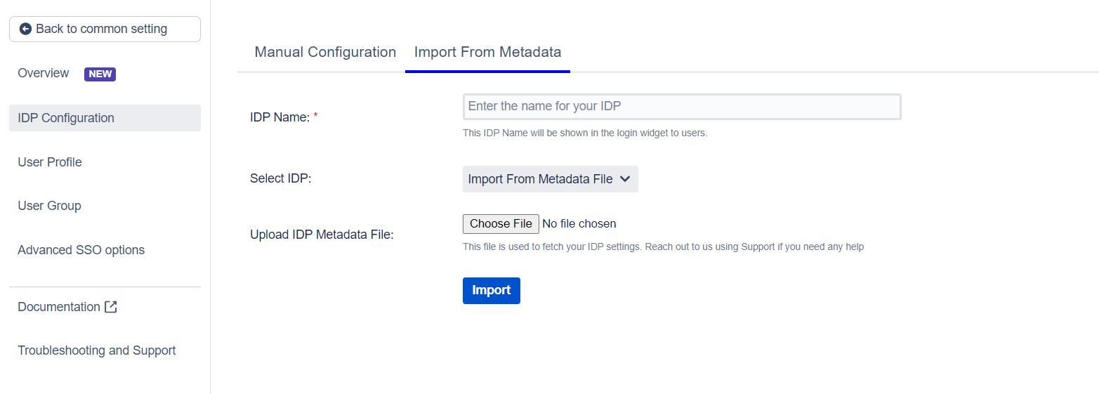 SAML Single Sign On (SSO) into Jira, Import IDP through Metadata File