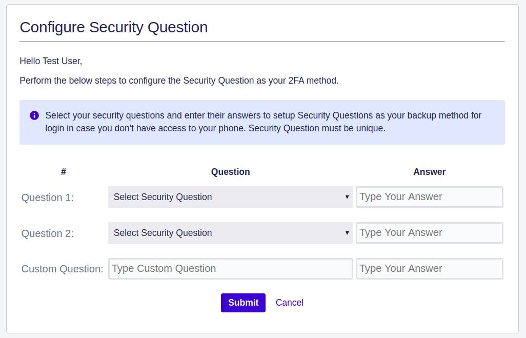 Setup Two Factor (2FA / MFA) Authentication for Jira using OTP, KBA, TOTP methods KBA