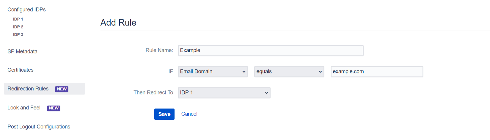 SAML Single Sign On (SSO) into Jira, example rule
