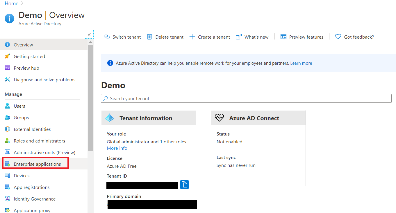User provisioning with Azure AD of SCIM Standard - Login to Azure AD portal