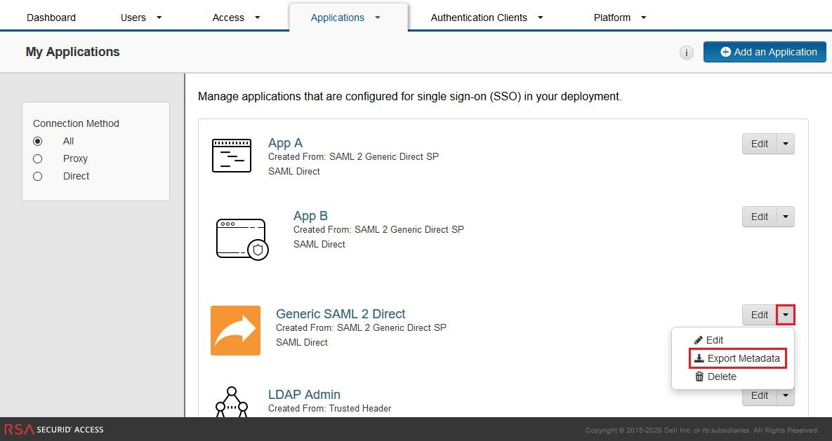Configure RSA SecurID as IDP - SAML Single Sign-On(SSO) for WordPress - RSA SecurID SSO Login RSA SecurID sso-12