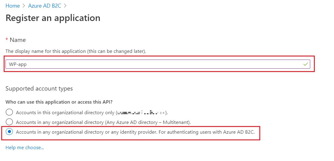SAML Single Sign-On (SSO) using Azure B2C as Identity Provider (IdP),for SAML 2.0 Azure B2C, Supported account types