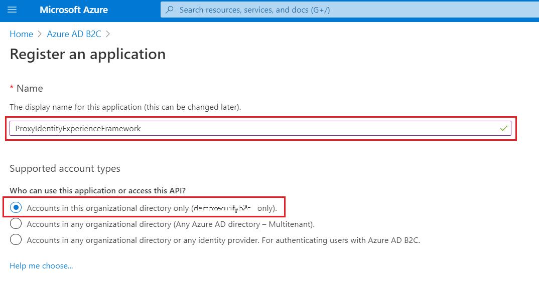 SAML Single Sign-On (SSO) using Azure B2C as Identity Provider (IdP),for SAML 2.0 Azure B2C, Original Directory
