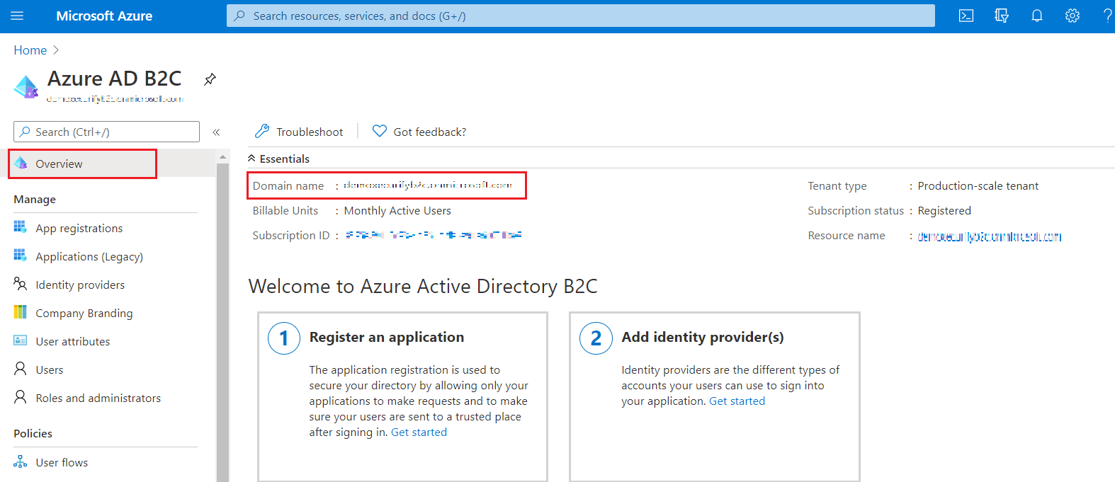 SAML Single Sign-On (SSO) using Azure B2C as Identity Provider (IdP),for SAML 2.0 Azure B2C, B2C tenant ID Reco