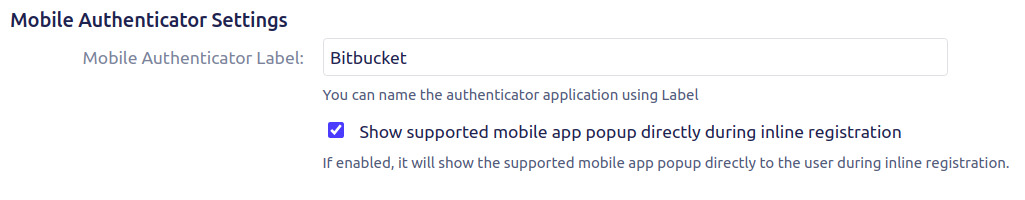 Two factor Authentication (2FA) for Bitbucket