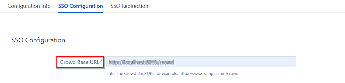 SAML Single Sign On (SSO) Connector for Crowd and Fisheye, Crowd Base URL