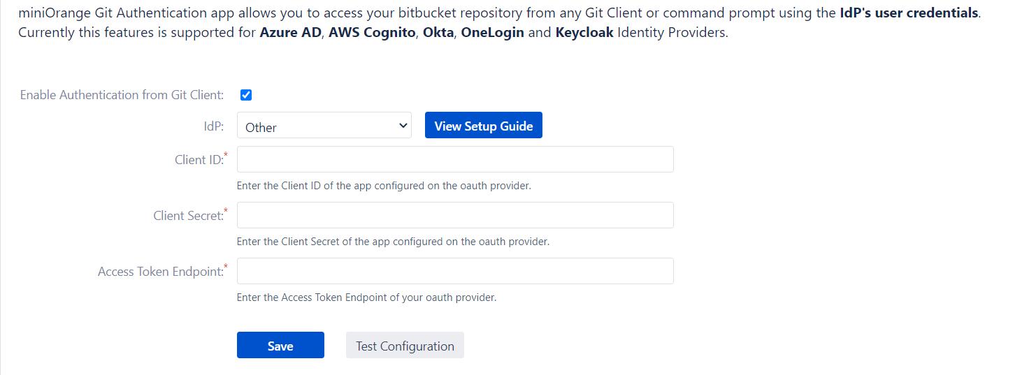 Enterprise Git Login for Bitbucket, Generic OAuth provider setup