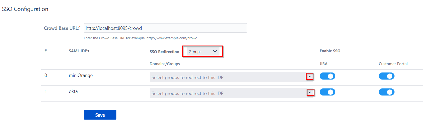 SAML Single Sign On (SSO) Connector for Crowd and Jira, Group Mapping