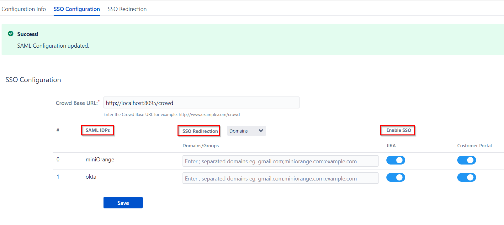 SAML Single Sign On (SSO) Connector for Crowd and Jira, Identity Providers