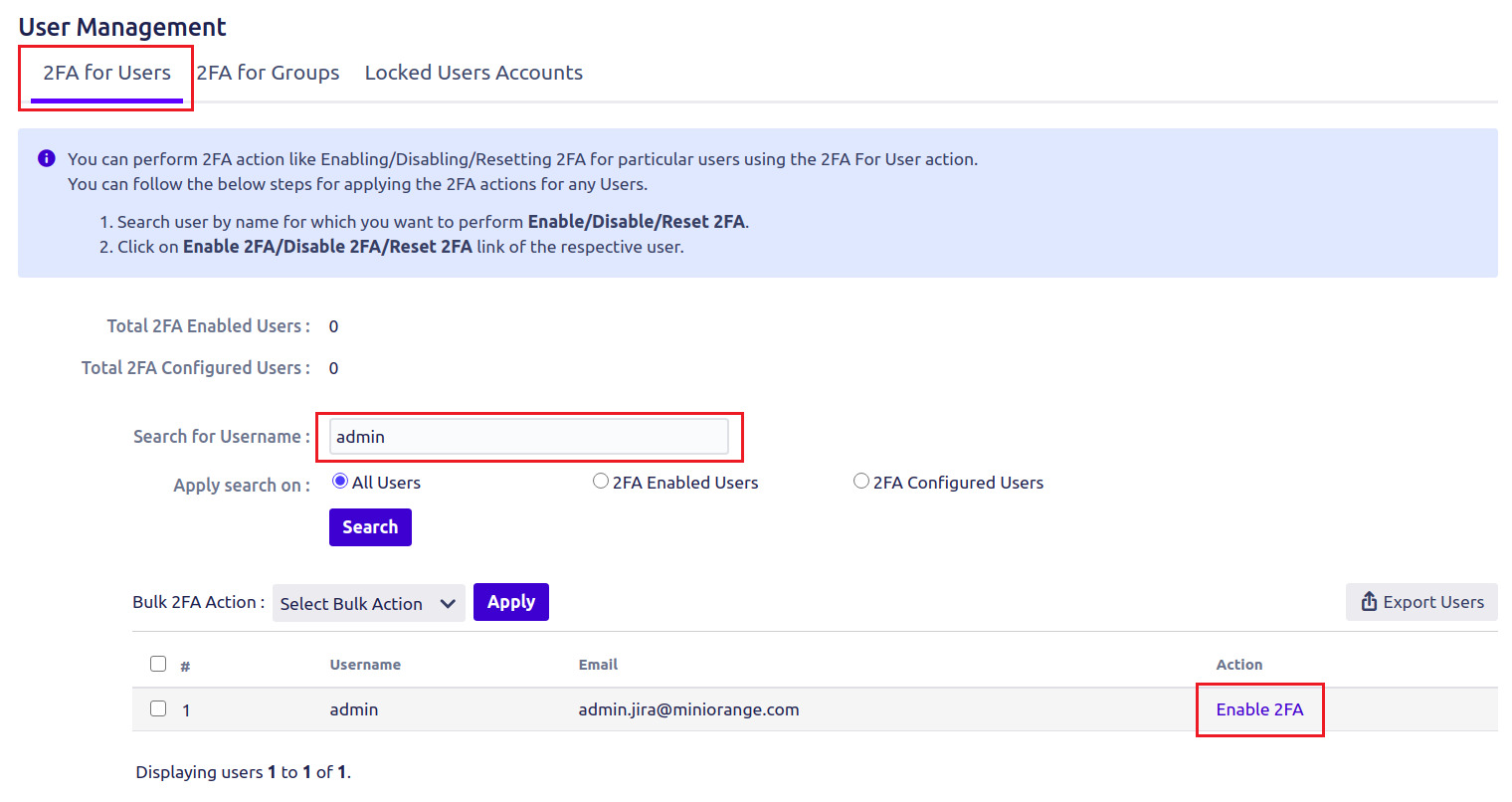 Setup Two Factor (2FA / MFA) Authentication for Jira using OTP, KBA, TOTP methods for single user