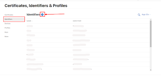 appleIdentifiers