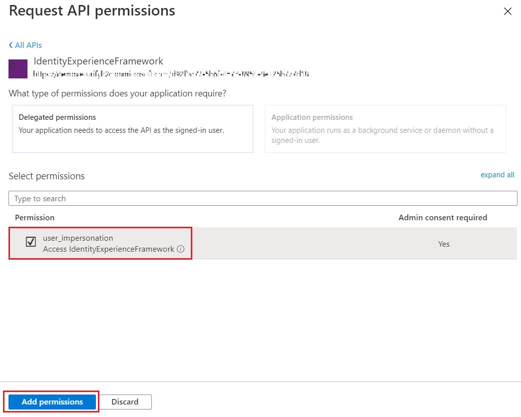 SAML Single Sign-On (SSO) using Azure B2C as Identity Provider (IdP),for SAML 2.0 Azure B2C, My APIs