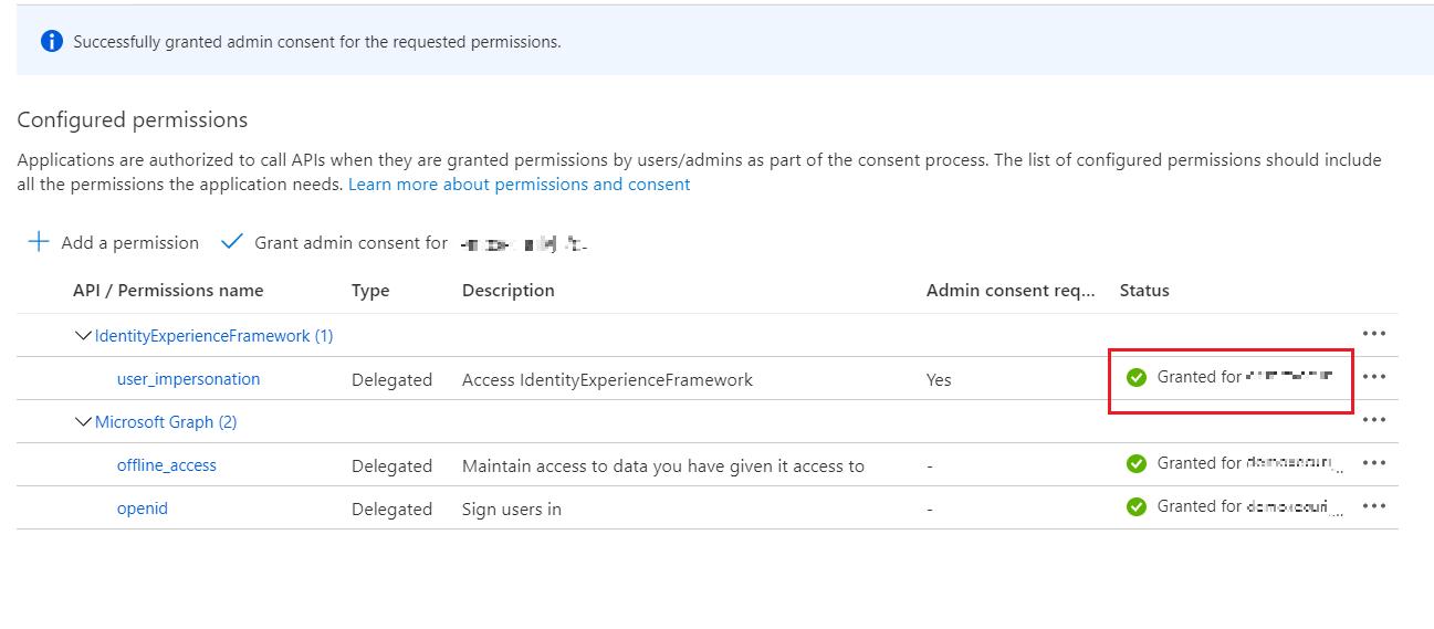 SAML Single Sign-On (SSO) using Azure B2C as Identity Provider (IdP),for SAML 2.0 Azure B2C,Status og admin access