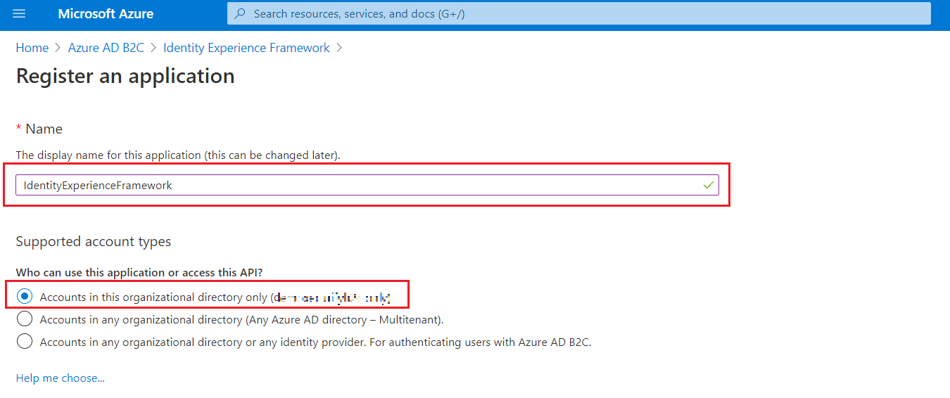 SAML Single Sign-On (SSO) using Azure B2C as Identity Provider (IdP),for SAML 2.0 Azure B2C Register an Application