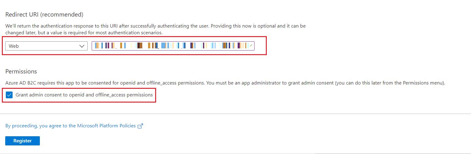 SAML Single Sign-On (SSO) using Azure B2C as Identity Provider (IdP),for SAML 2.0 Azure B2C, Redirect URL